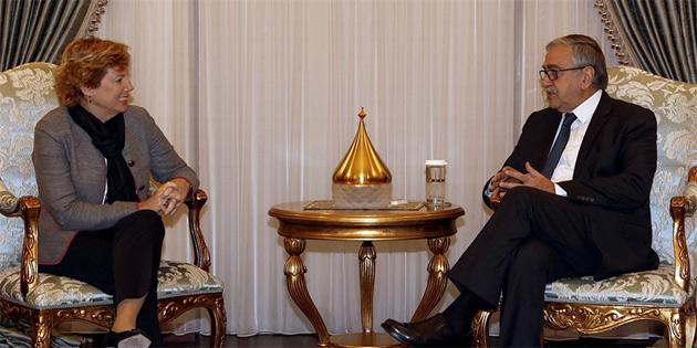 Cumhurbaşkanı Akıncı, ABD Büyükelçisi Doherty'i kabul etti