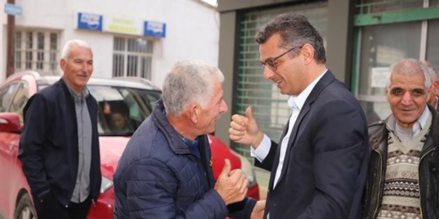 CTP Genel Başkanı ve Cumhurbaşkanı adayı Erhürman, Bostancı'yı ziyaret etti