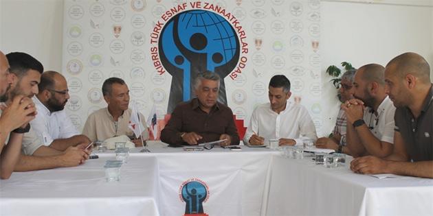 Karaman Kıbrıs Türk Esnaf ve Zanaatkarlar Odasını ziyaret etti