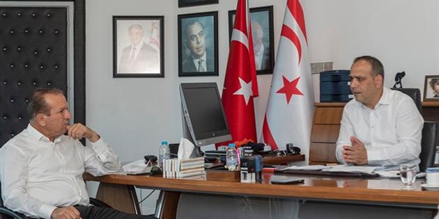 DP Genel Başkanı Ataoğlu LTB Başkanı Harmancı ile görüştü