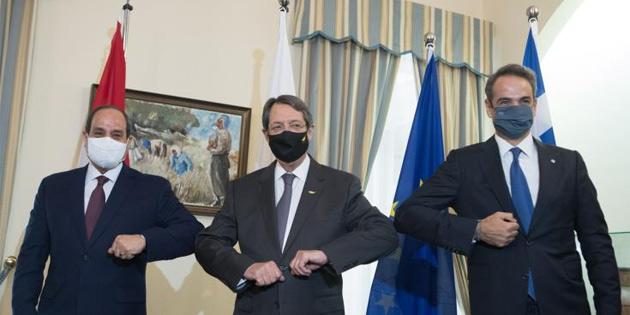 Güney Kıbrıs-Mısır-Yunanistan üçlü zirvesi gerçekleşti