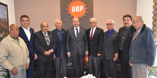 Tatar Kıbrıs TMT Mücahitler Derneği heyetini kabul etti