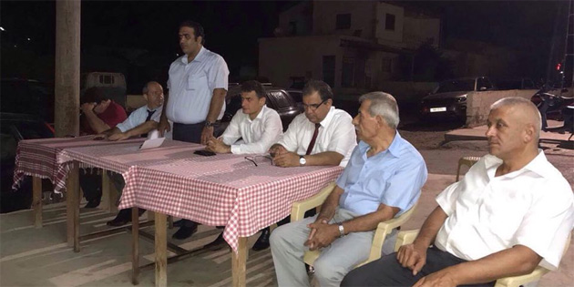 UBP Lefkoşa ilçesi Mesarya köylerinde vatandaşlarla bir araya geldi