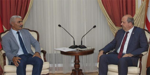 Başbakan Tatar, KKTC Alevi Kültür Merkezi Yönetim Kurulu üyelerini kabul etti