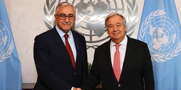 Cumhurbaşkanı Akıncı, 2 Ekim'de Guterres ile görüşme yapacak