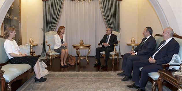 Hollanda'nın Lefkoşa Büyükelçisi Jaarsma, Cumhurbaşkanı Akıncı'ya veda ziyaretinde bulundu