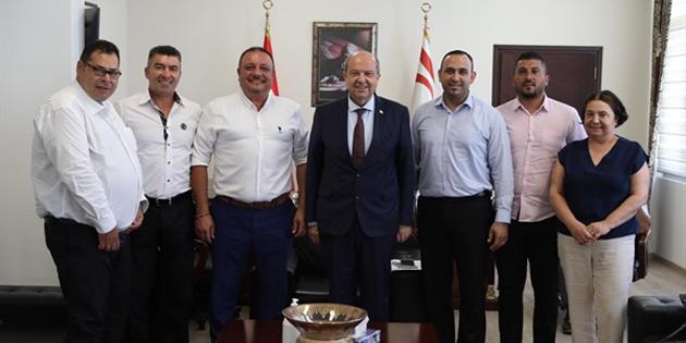 Başbakan Tatar, Ada-Sen Yönetim Kurulu'nu kabul etti