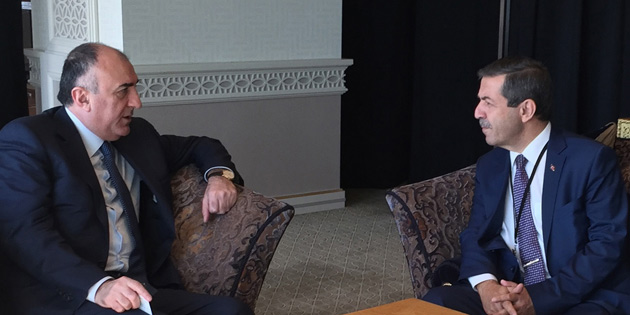 D��i�leri Bakan� Ertu�rulo�lu, Azerbaycan D��i�leri Bakan� Mammadiyarov ile g�r��t�