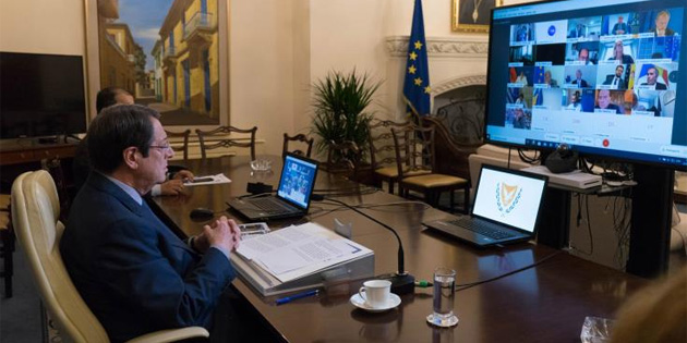 Anastasiadis, Von Der Leyen ve BM Genel Sekreteri'yle görüştü