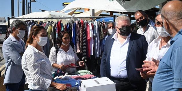 TKP heyeti Lefkoşa açık pazarı gezdi