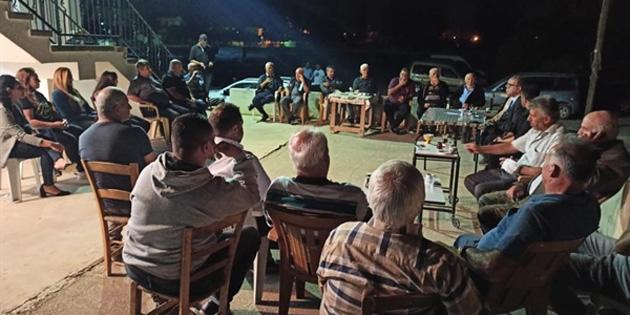 Faiz Sucuoğlu, Akdoğan ve Vadili köylerini ziyaret ederek, UBPliler ile buluştu