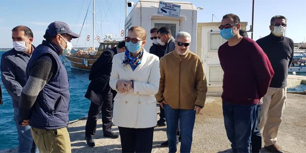 Canaltay, Gazimağusa Limanı ve Posta Dairesi Merkez Şubesi'nde incelemeler yaptı