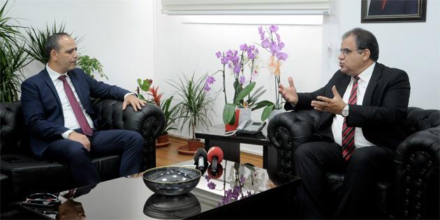 Çalışma Bakanı Sucuoğlu LTB Başkanı Harmancı'yı kabul etti