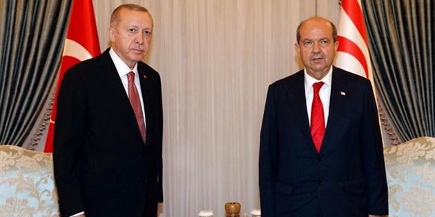 Cumhurbaşkanı Tatar, Erdoğan ile telefonda görüştü