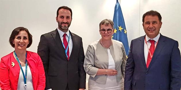 Saner ve Candan AKPA Başkanı Liliane Maury Pasquier ile görüştü