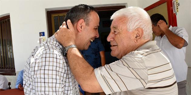 Harmancı, Küçük Kaymaklı Türk Spor Kulübü ve Haspolat'ı ziyaret etti