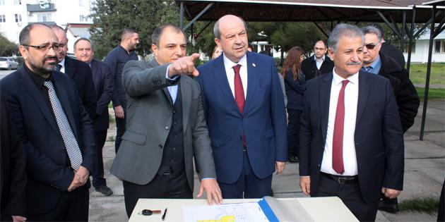 Başbakan Tatar, AMATEM'in inşa edileceği yerde incelemelerde bulundu