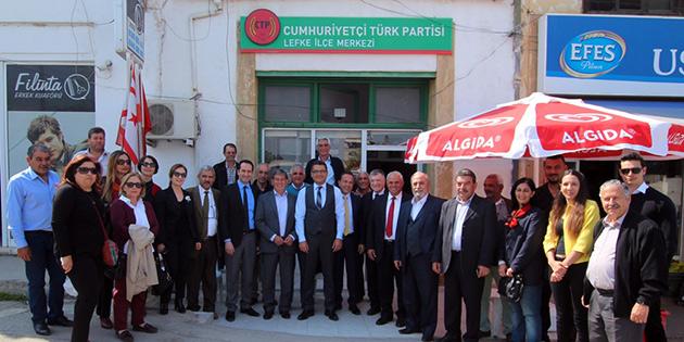 CTP Lefke İlçe binası açıldı, kongre 12 Nisan'da
