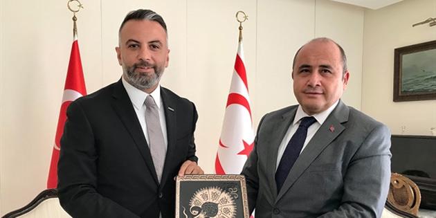 Büyükelçi Başçeri, Askon Heyeti'ni kabul etti
