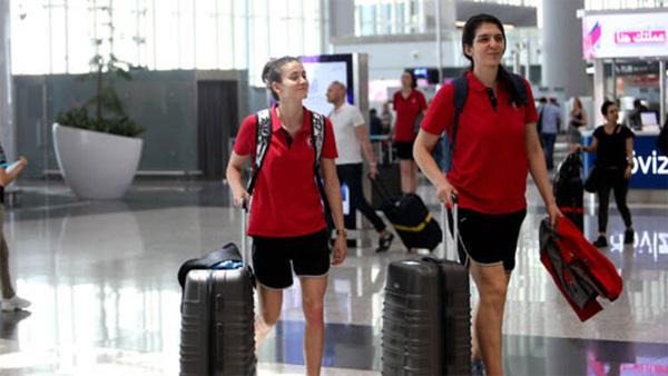 A Milli Kadın Basketbol Takımı, Fransa'ya gitti