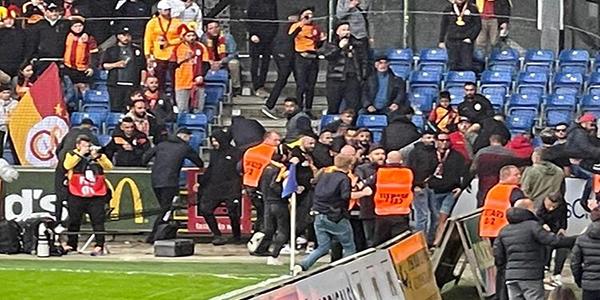 Randers - Galatasaray maçında kavga çıktı
