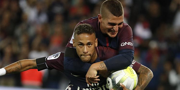 Neymar'dan resital, Paris Saint-Germain'den gol şov!