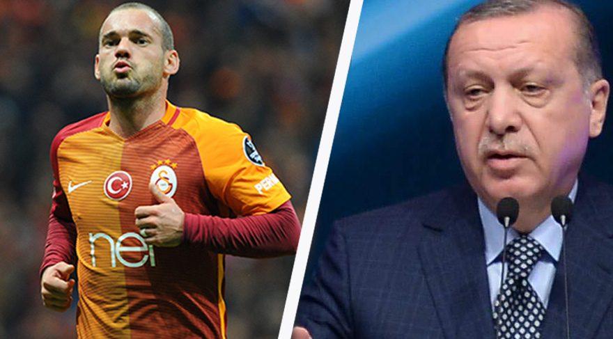 Cumhurbaşkanı Erdoğan'dan Wesley Sneijder'e övgü