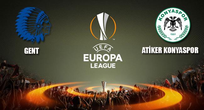 Atiker Konyaspor Gent deplasman�nda