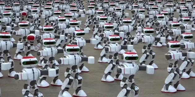 Dans eden robotlar Guinness Rekorlar Kitabı'na girdi