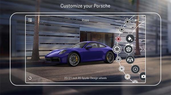 Porsche'den artırılmış gerçeklik uygulaması: Porsche AR Visualizer